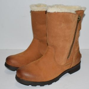 Sorel Emelie Foldover Brown Waterproof Boots 7.5